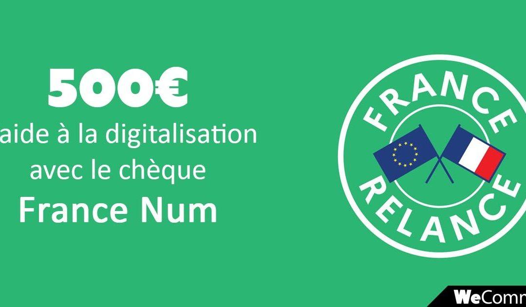 Profitez encore du chèque numérique de 500€ !